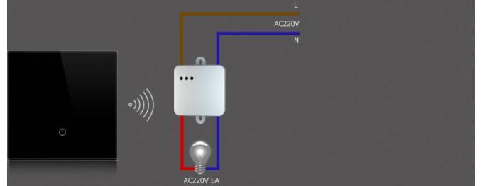Радиовыключатель сенсорный одноклавишный DeLUMO