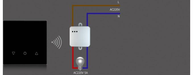 Радиопульт сенсорный для управления радиодиммером DeLUMO