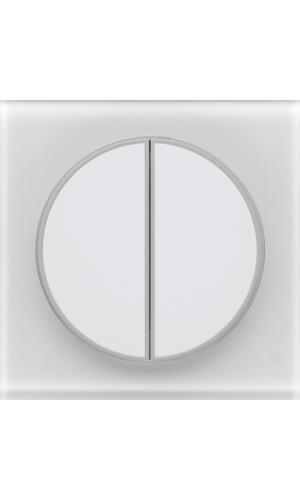 Радиовыключатель двухклавишный серии TAKTO для управления двумя зонами освещения